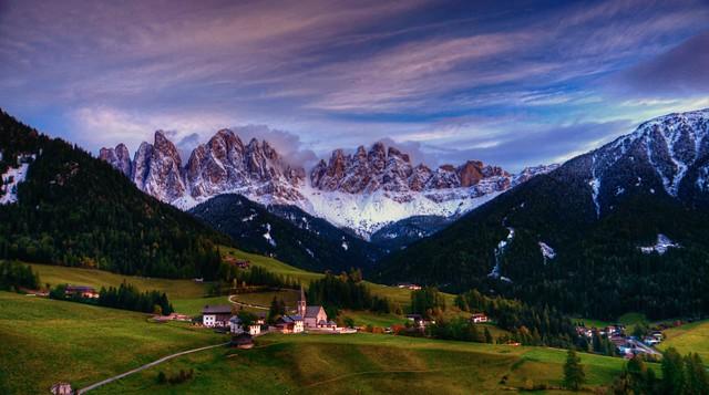 Sunset on the Dolomites