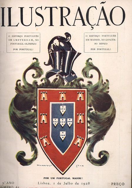 Capa de revista antiga | vintage magazine cover | Portugal 1920s