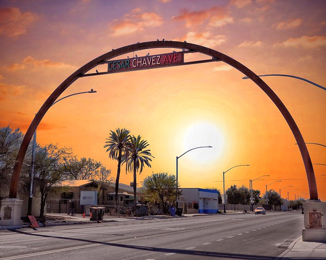 Cesar Chavez Ave Arch