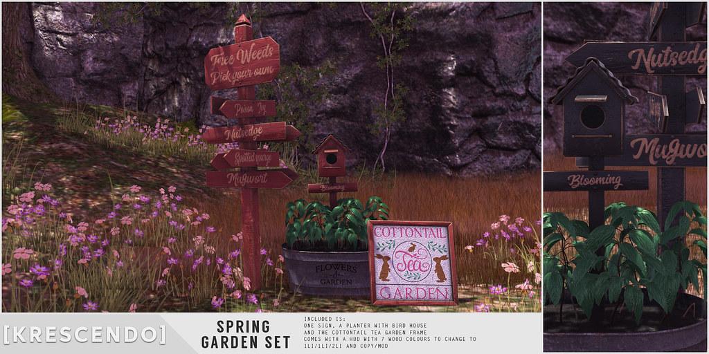 [Kres] Spring Garden Set