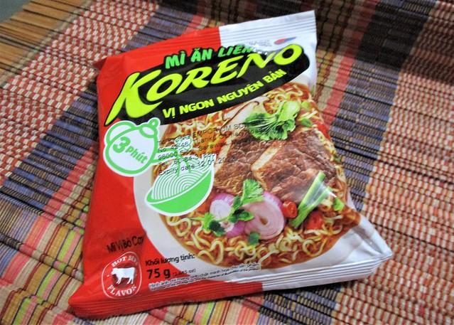 Koreno Korean beef noodles, packet
