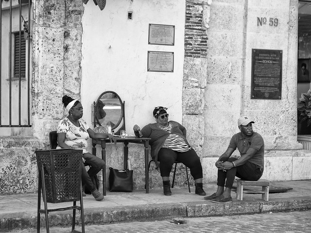 relaxed on the Street in Havanna