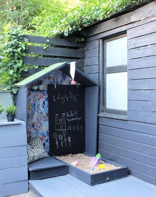 Chalkboard Play Wall & Sandbox