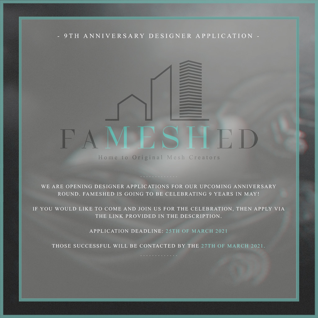 FaMESHed Applications for May (9th Anniversary)