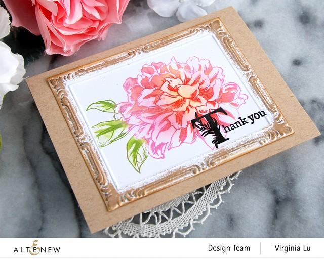 Altenew-Storybook Stamp-Vintage Garden Stamp-Simple Frame Embossing Folder-001