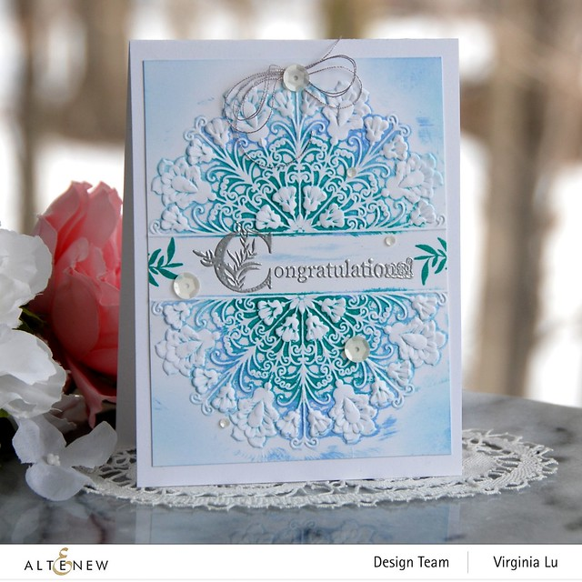 Altenew-Storybook Stamp-Ornamental Feature 3D Embossing Folder