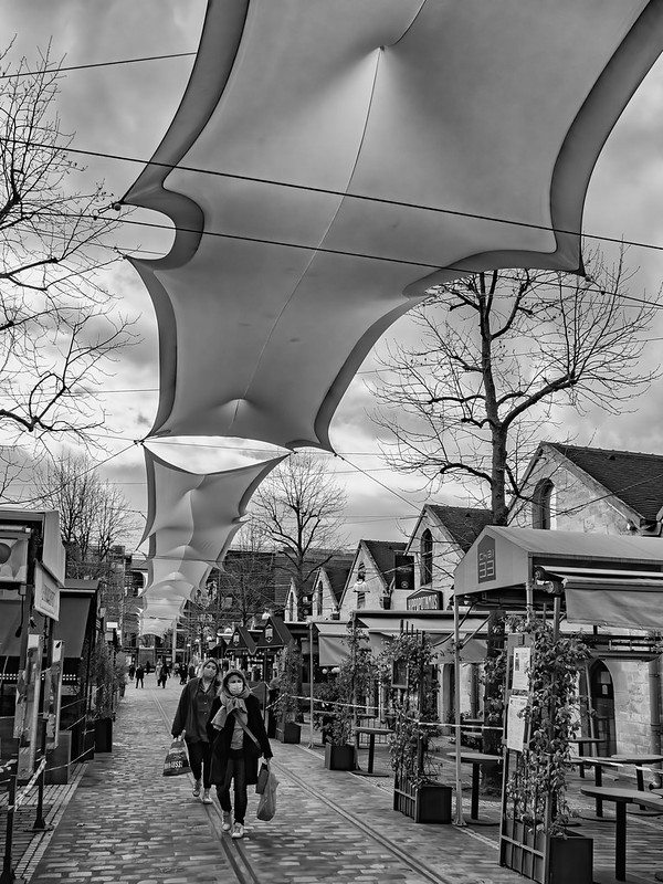 Masques anti-COVID tendus sur le Cours St Emilion (Paris XII) 51047225792_074b322102_c