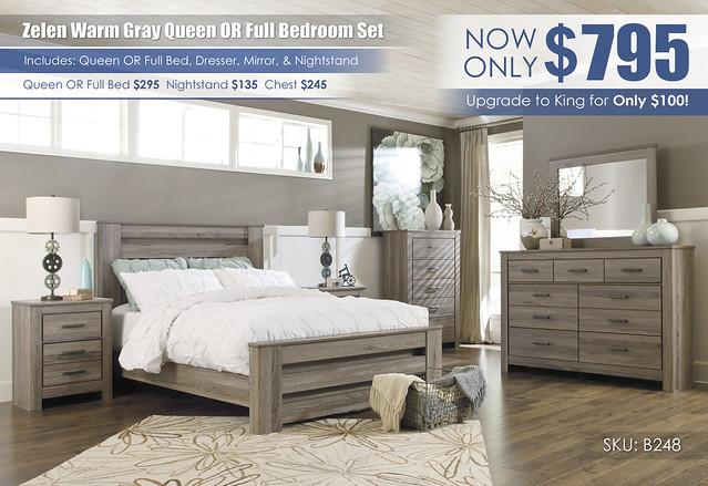 Zelen Warm Gray Bedroom Collection_B248-31-36-46-67-64-98-92