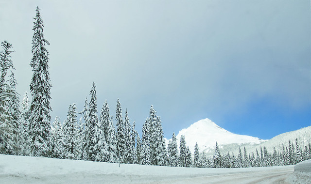 Mt Hood with snow, Oregon