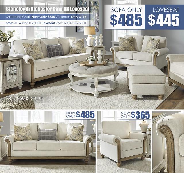 Stoneleigh Alabaster Sofa OR Loveseat Layout_85803-38-35-20-14-T743