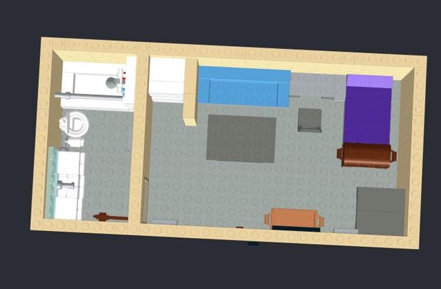 Dorm room birds-eye view