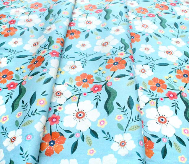 Dashwood Studio Hedgerow 1839 Large Floral Blue