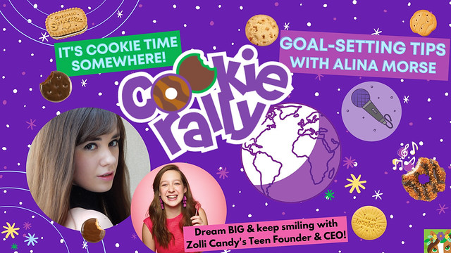 USA Girl Scouts Overseas' Cookie Rally: Kristina Lachaga chats with Zolli Candy's Teen Founder & CEO, Alina Morse