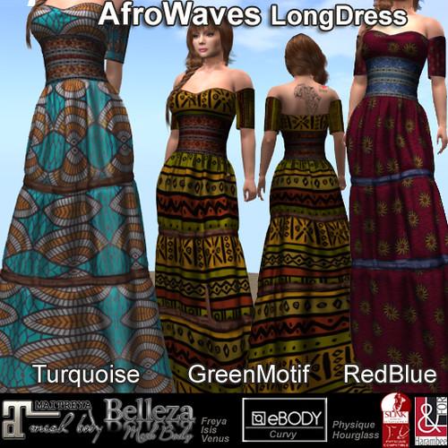 AfroWaves LongDress