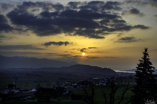 Sunset time in Kaltbrunn - Switzerland
