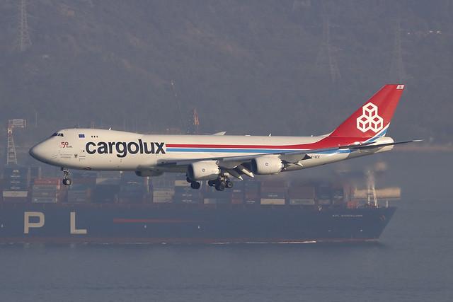 LX-VCE, Boeing 747-8F, Cargolux, Hong Kong