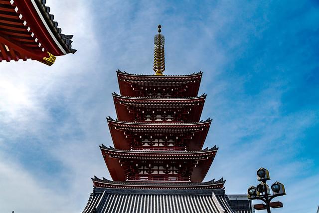 Five-storied pagoda of Sensoji Temple : 浅草寺 五重塔