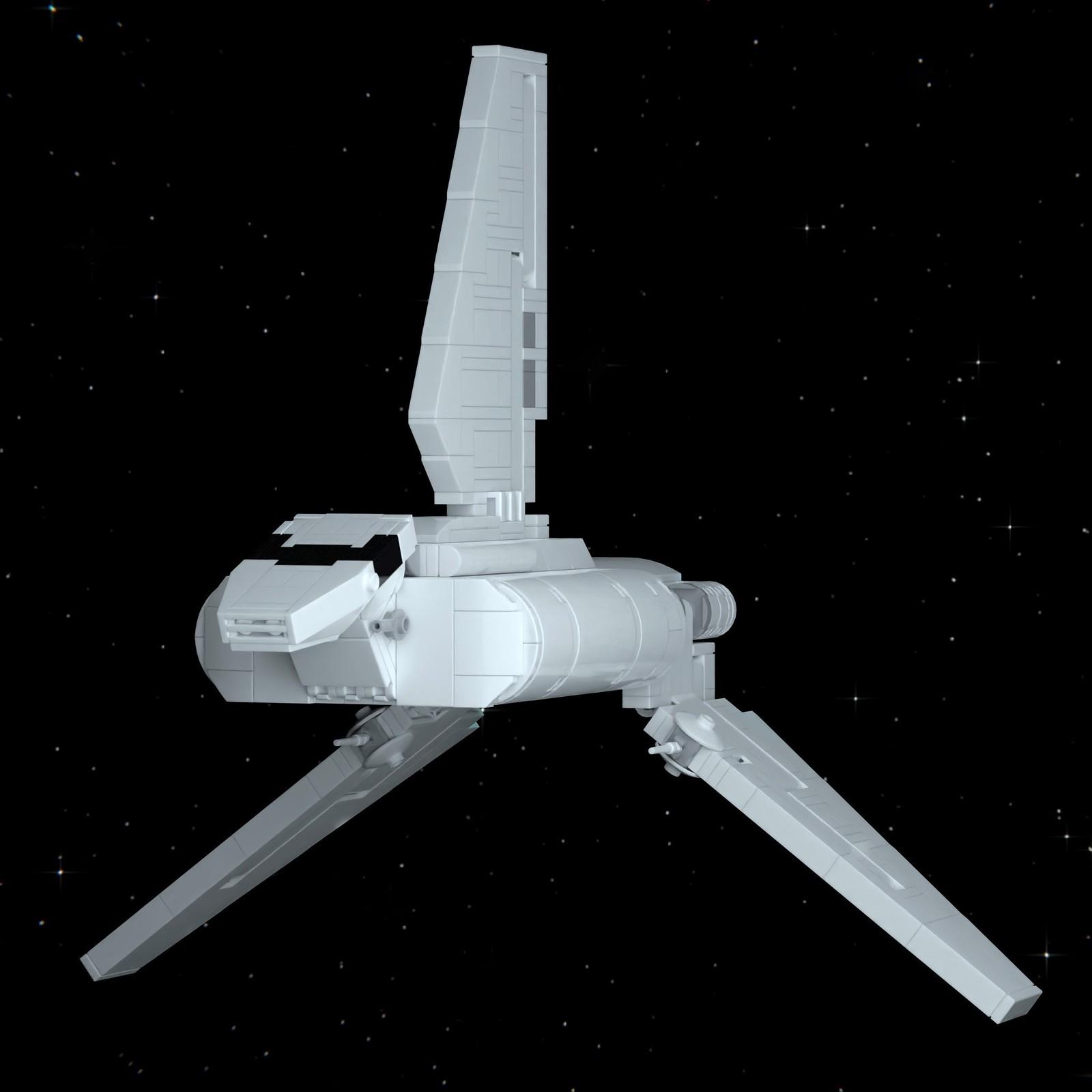 Mini-Scale Imperial Sentinel-Class Shuttle MOC