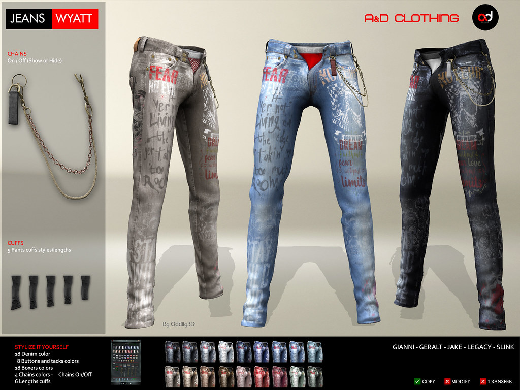 ! A&D Clothing at MOM event – Pants -Wyatt-  FatPack