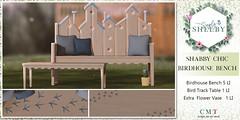 Simply Shelby BirdHouse Bench Set