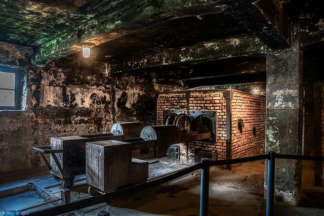 Auschwitz I: First crematorium at Auschwitz. Poland.  259a
