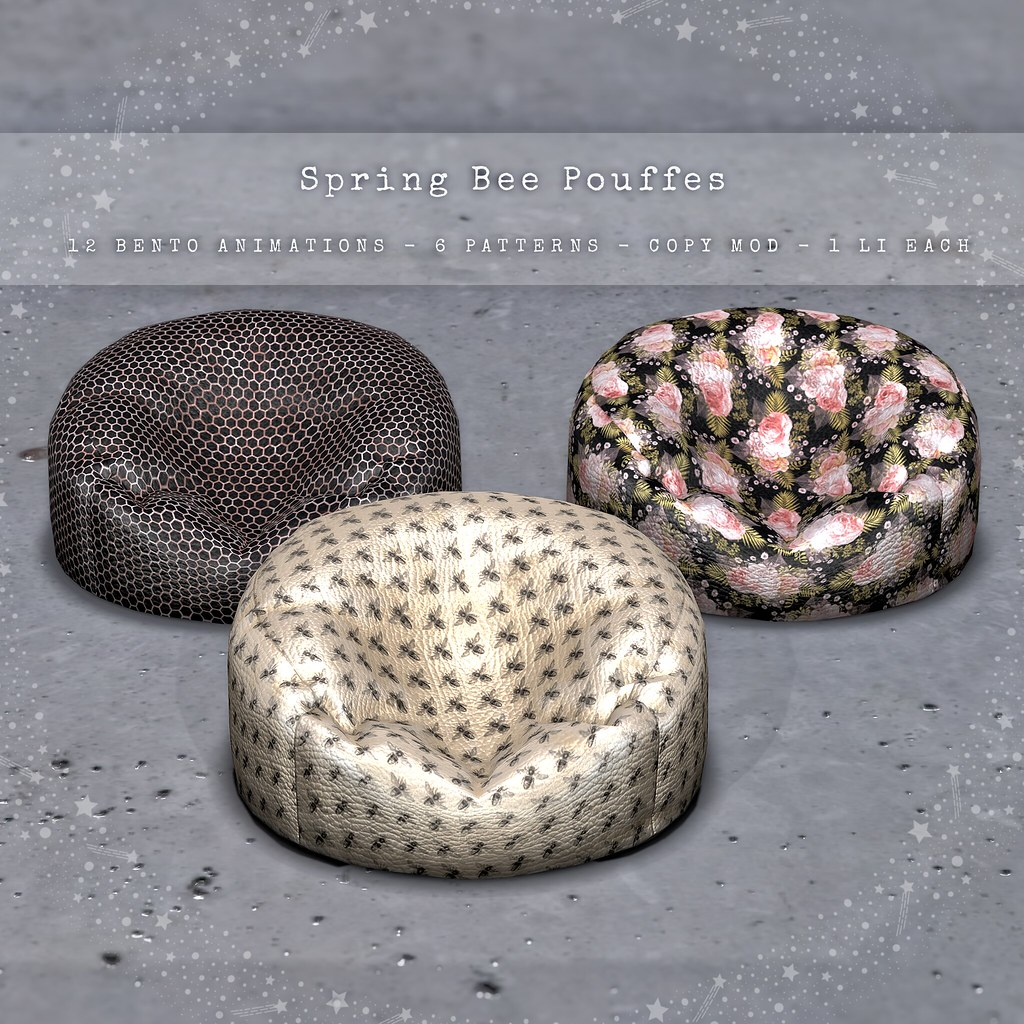 CELESTE – Spring Bee Pouffes