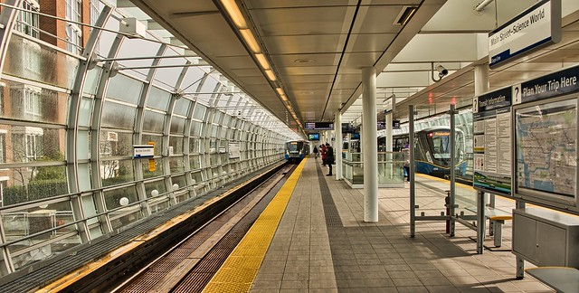 2021 - Vancouver - Main Street - Science World Skytrain Station