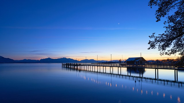 Blue Hour Panorama at Lake Chiemsee, Bavaria (explored)