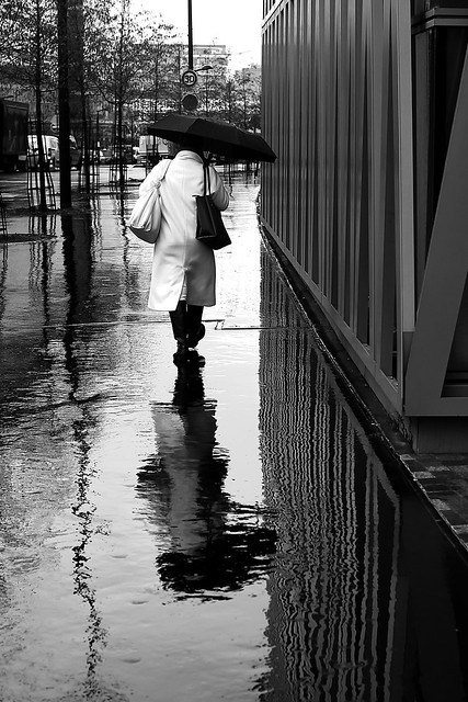 Between the umbrellas