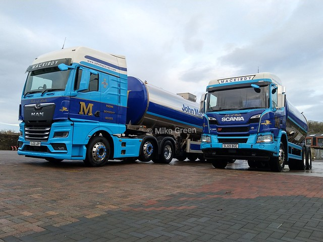 Big and Small milk tankers