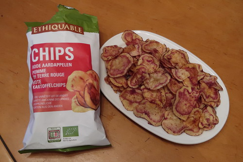 Chips aus Roten Kartoffeln aus den Anden Perus (erhältlich über Ethiquable)