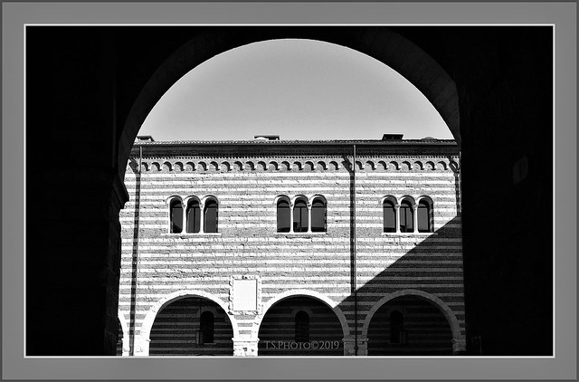 Arches and the shaddow .Verona