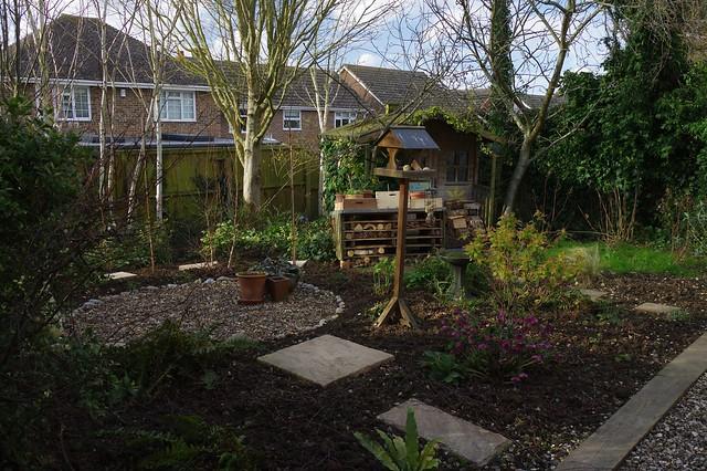 Re-wilded garden looking green.....