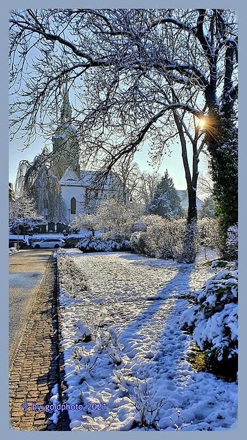 St.-Kilian-Kirche Bad Lausick - Winter 2021......please enlarge !