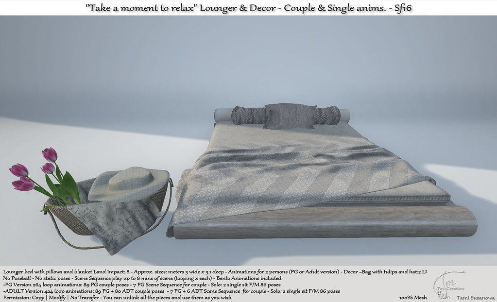 ".:Tm:.Creation ""Take a moment to relax"" Lounger & Decor Sf16"