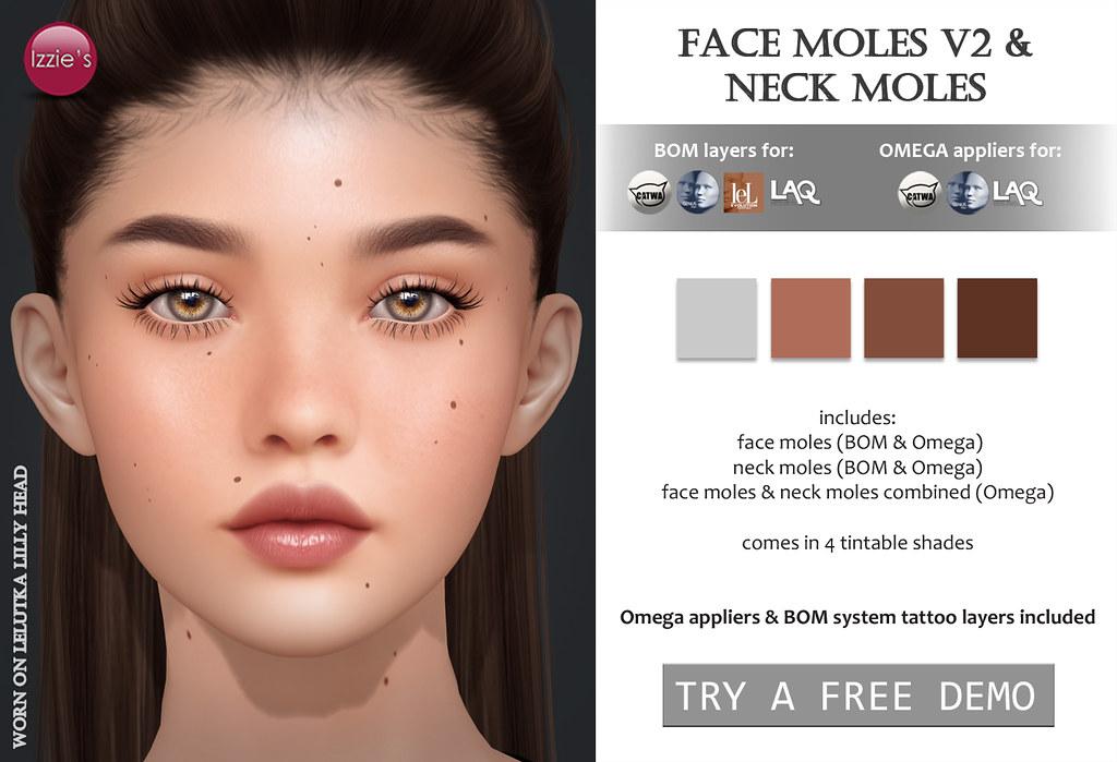 Face Moles V2 & Neck Moles (for TLC)