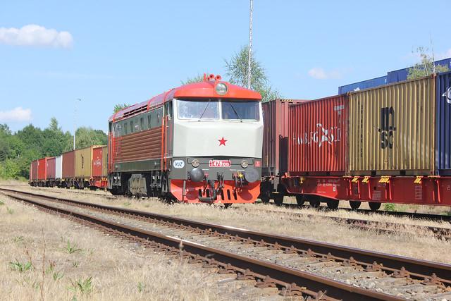 751010 at Zizkov Yard on a NFP Railtour,, 06 July 2014,