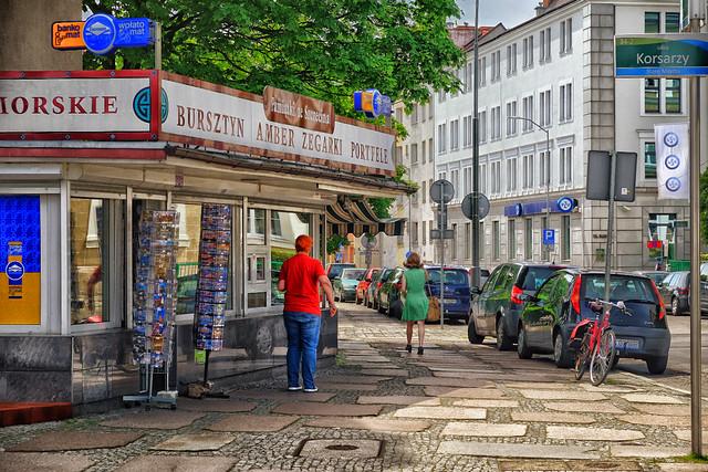 Corner shop in Szczecin, Poland