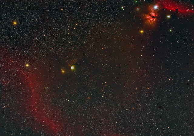 The Flame and Horsehead Nebulae, M78 and a Bit of Bernard's Loop - March 15, 2021