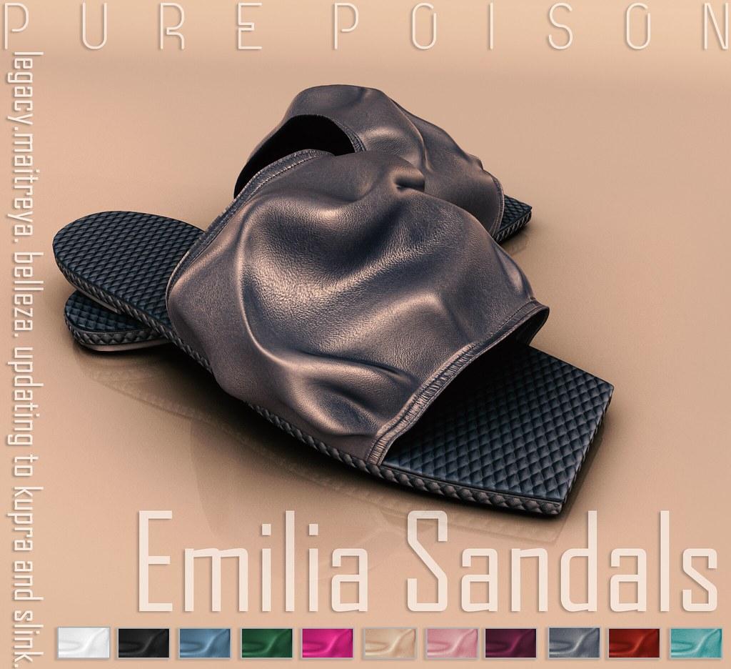 Pure Poison – Emilia Sandals – Kustom9