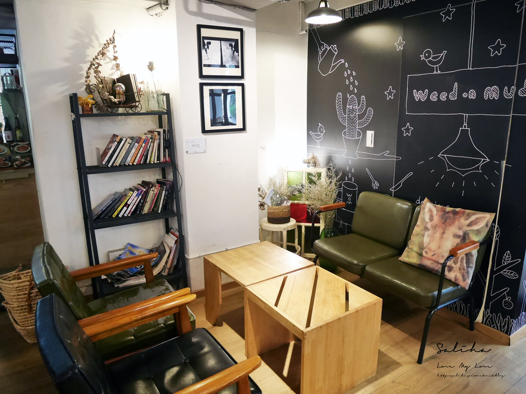 台北六張犁餐廳美食推薦草泥Cafe好拍可久坐咖啡廳下午茶浮誇系甜點文青咖啡廳 (1)