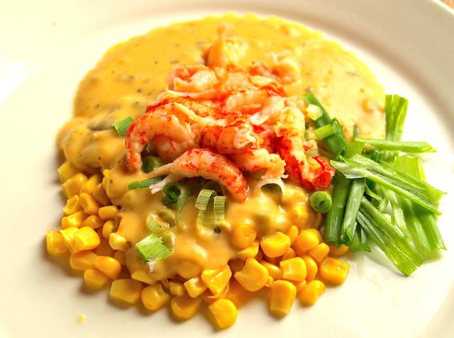 Crayfish Tails with Sweetcorn and Smokin' Cheese & Jalapeno Sauce