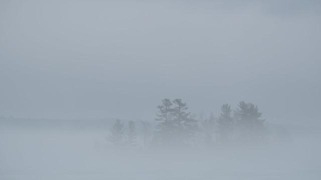 Fog on Cobbossee
