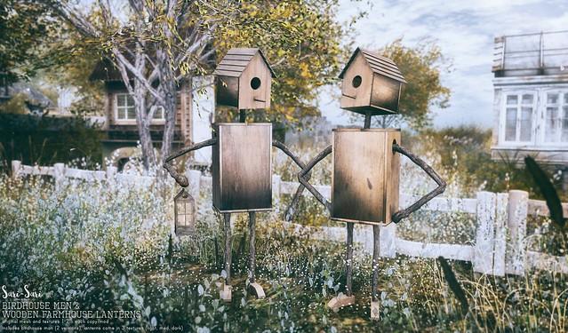 Sari-Sari - Birdhouse Men & Wooden Farmhouse Lanterns