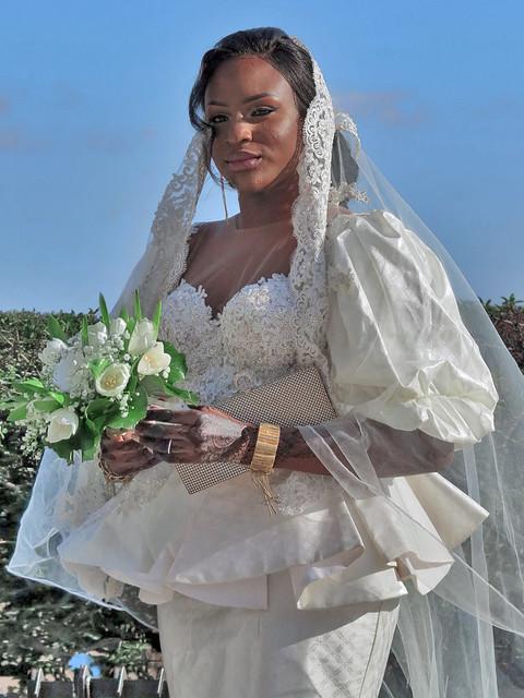 Portrait of African bride