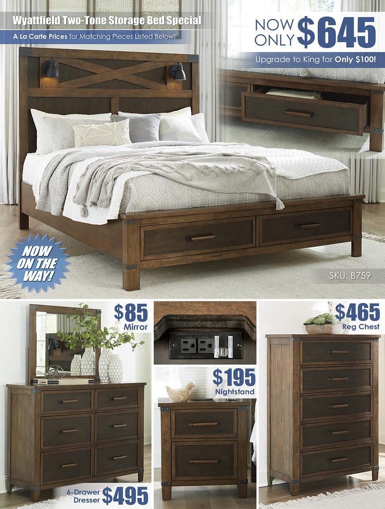 Wyattfield Two-Tone Storage Bed_B759 A La Carte Layout