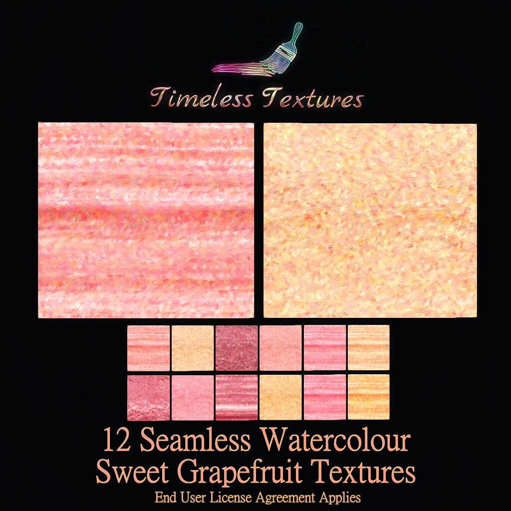 TT 12 Seamless Watercolour Sweet Grapefruit Timeless Textures