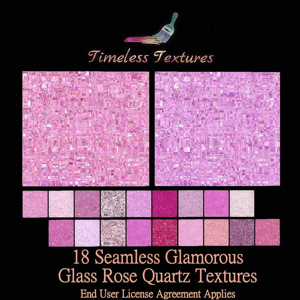 TT 18 Seamless Glamorous Glass Rose Quartz Timeless Textures