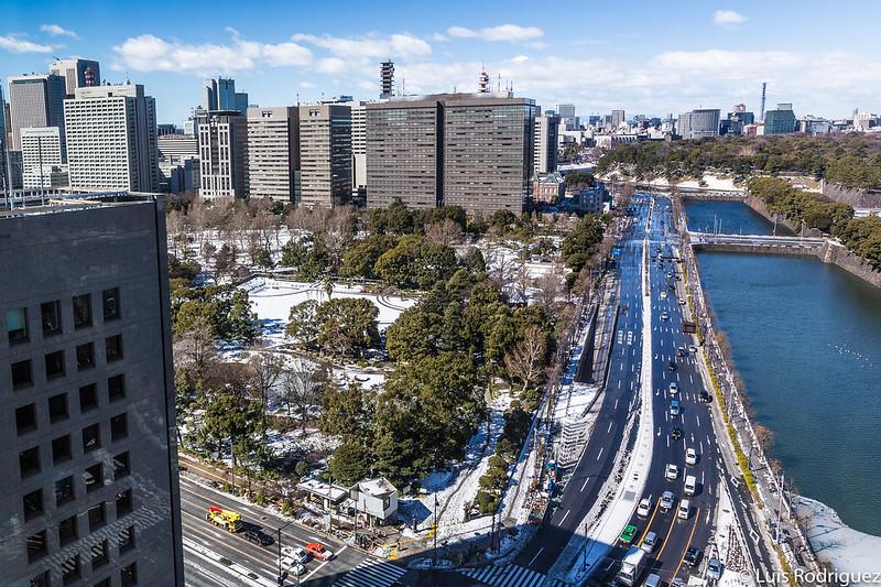 Parque Hibiya desde las alturas