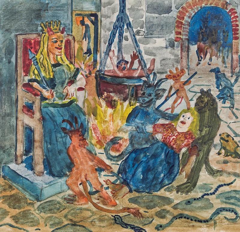 Franz von Zülow - The Witch's Kitchen, Early-Mid 20th Century